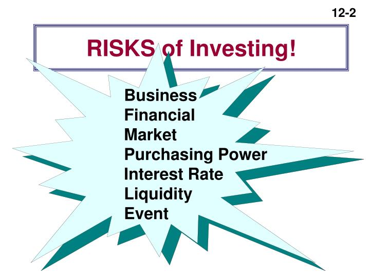 RISKS of Investing!