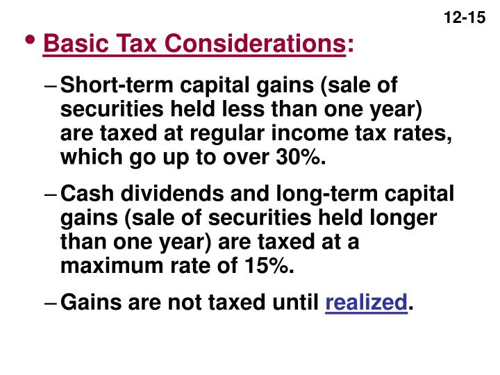 Basic Tax Considerations