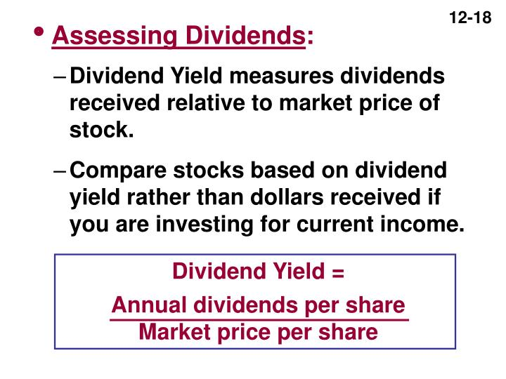 Assessing Dividends