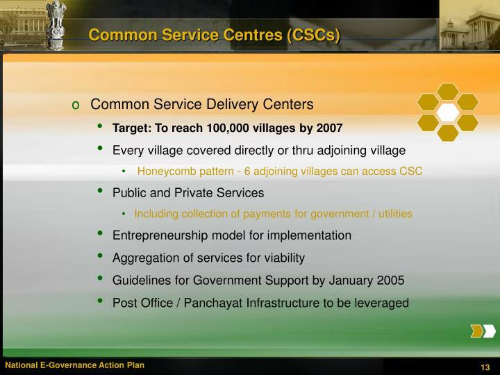 Common Service Centres (CSCs)