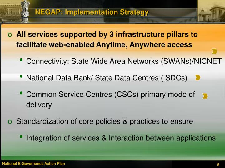 NEGAP: Implementation Strategy