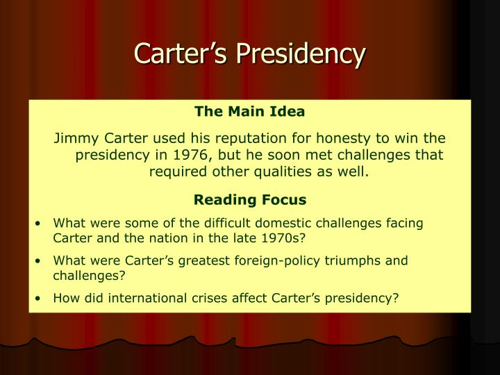 Carter's Presidency