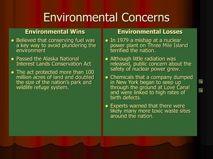 Environmental Wins