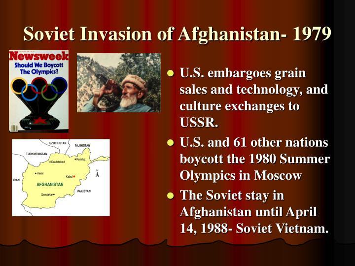 Soviet Invasion of Afghanistan- 1979