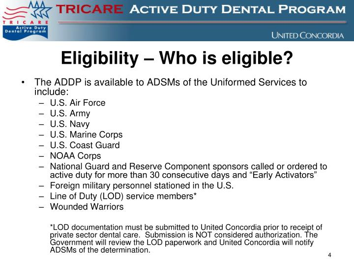 Eligibility – Who is eligible?