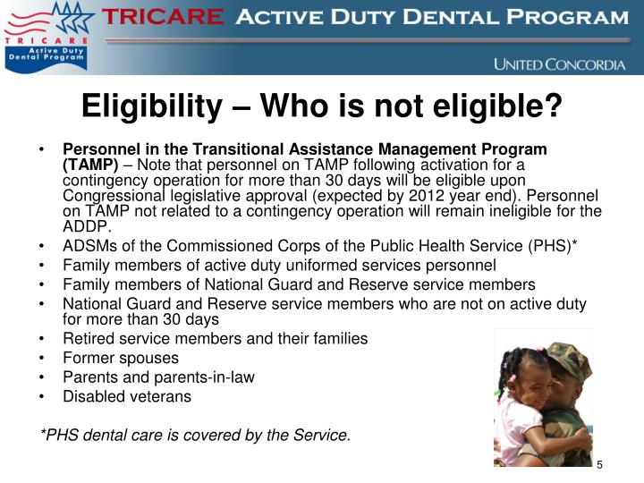 Eligibility – Who is not eligible?