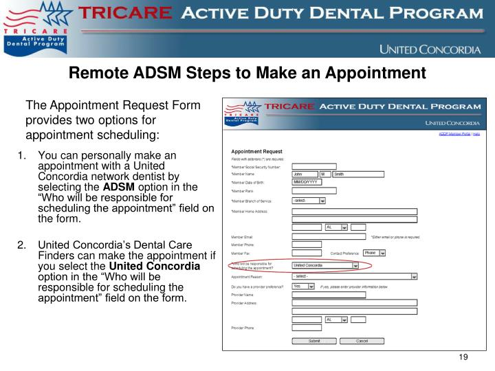 Remote ADSM Steps to Make an Appointment