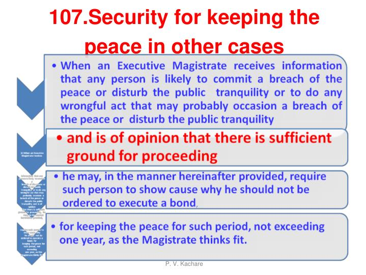 107.Security for keeping the peace in other cases