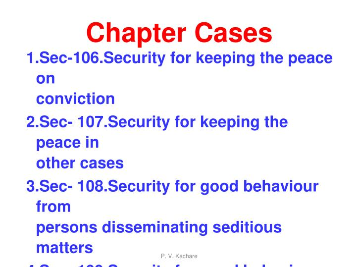 Chapter cases