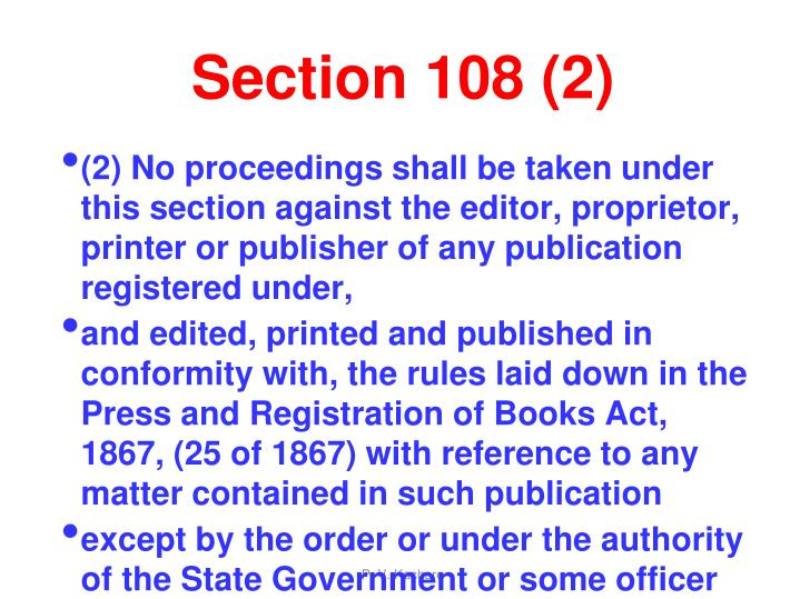 Section 108 (2)