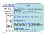 data types cont d