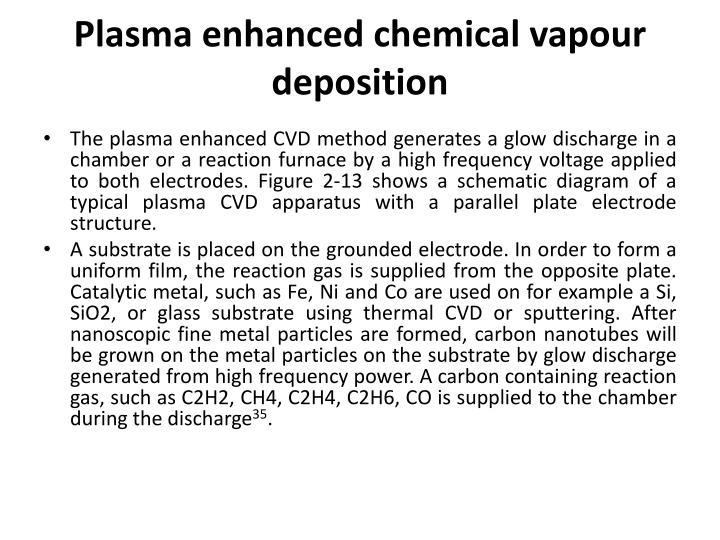 Plasma enhanced chemical
