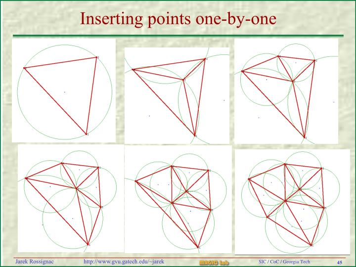 Inserting points one-by-one