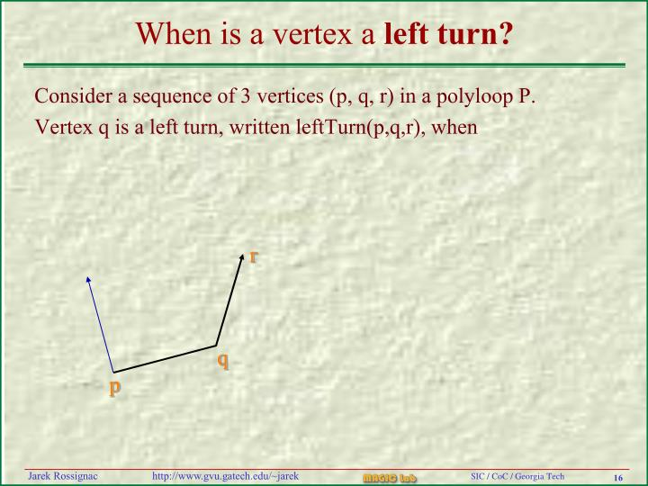 When is a vertex a