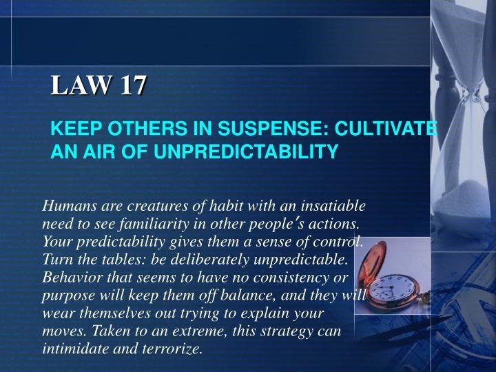 LAW 17