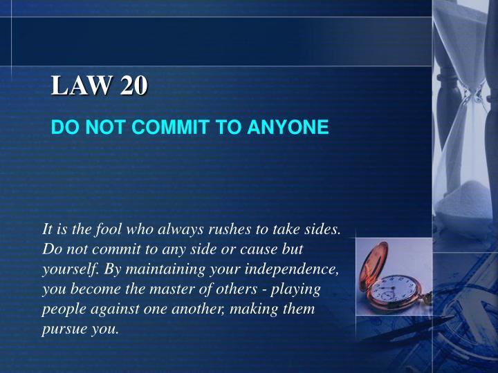 LAW 20