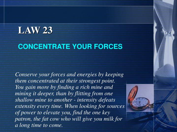 LAW 23