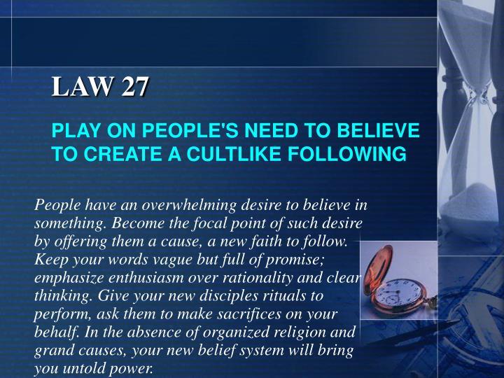 LAW 27