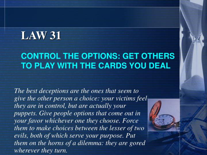 LAW 31