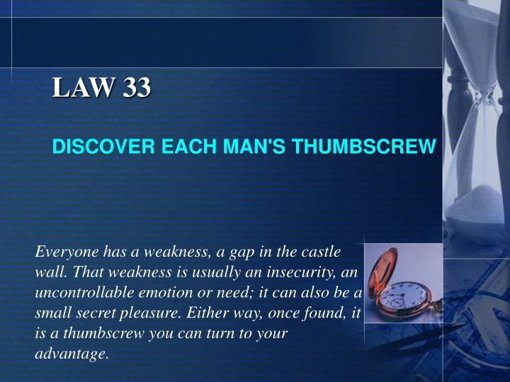 LAW 33