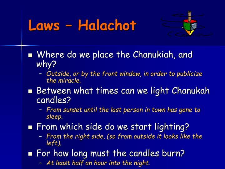 Laws – Halachot