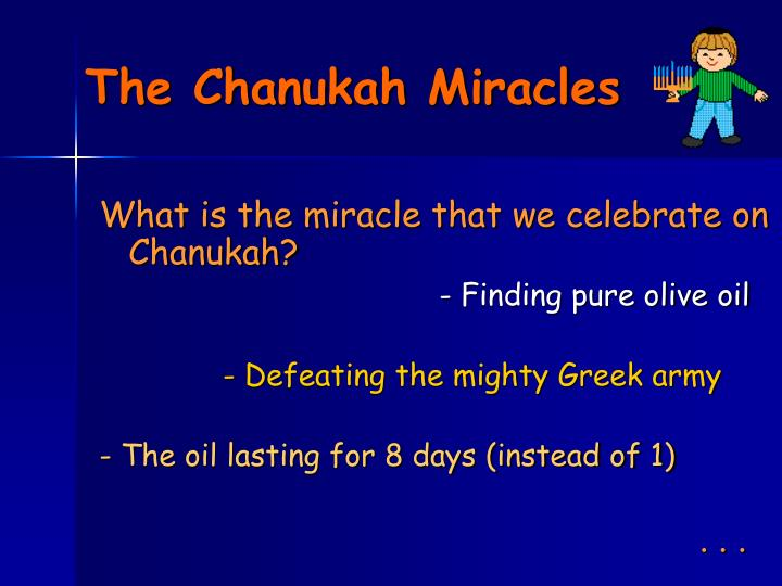 The Chanukah Miracles