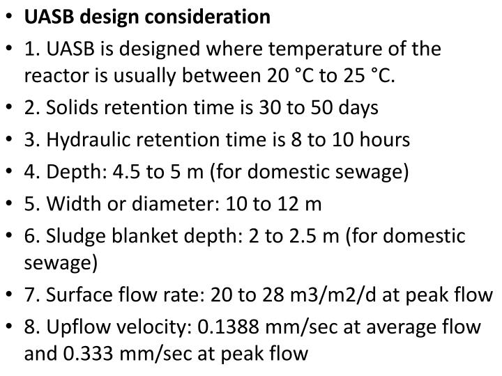 UASB design consideration