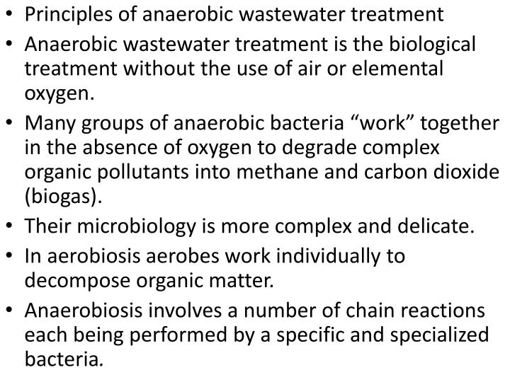 Principles of anaerobic wastewater treatment