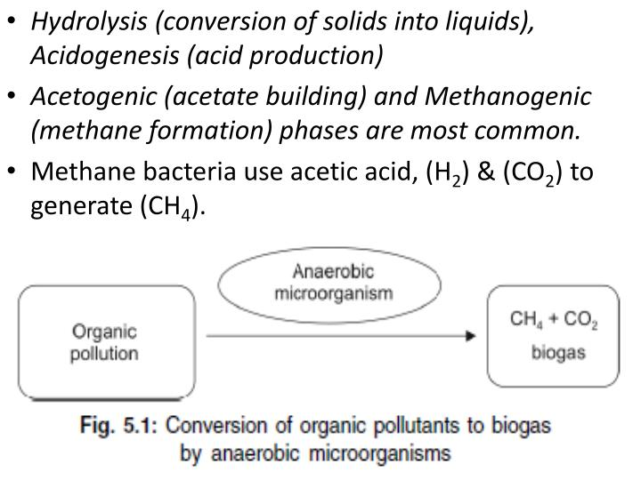 Hydrolysis (conversion of solids into liquids),