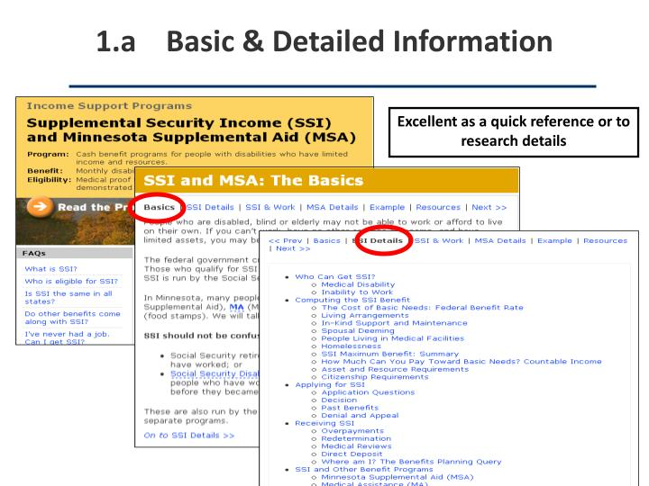 1.a    Basic & Detailed Information