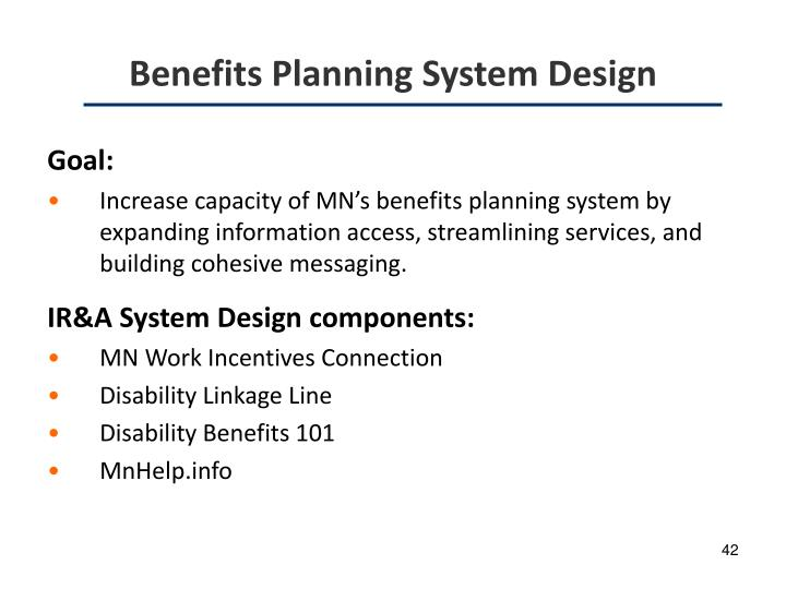 Benefits Planning System Design