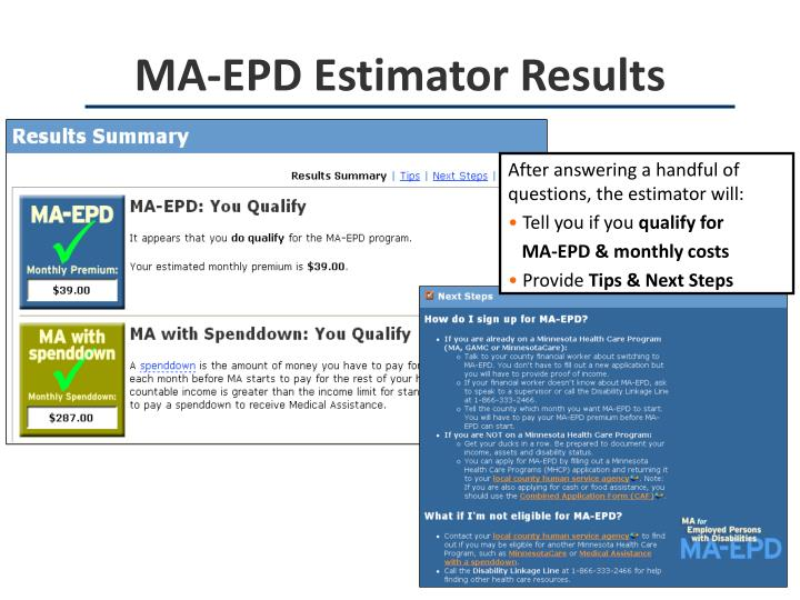 MA-EPD Estimator Results