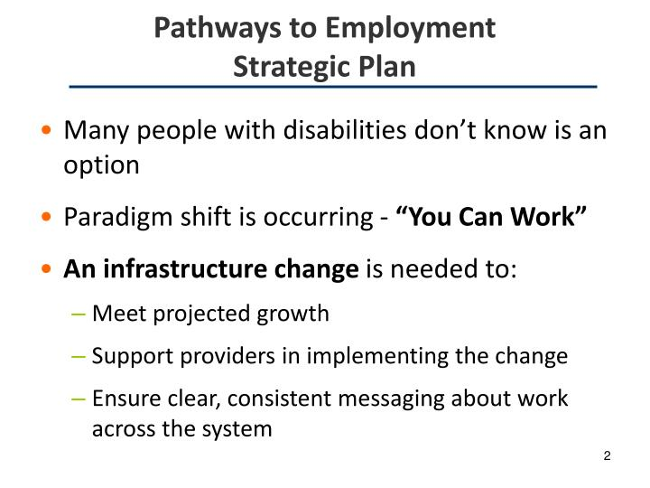 Pathways to employment strategic plan