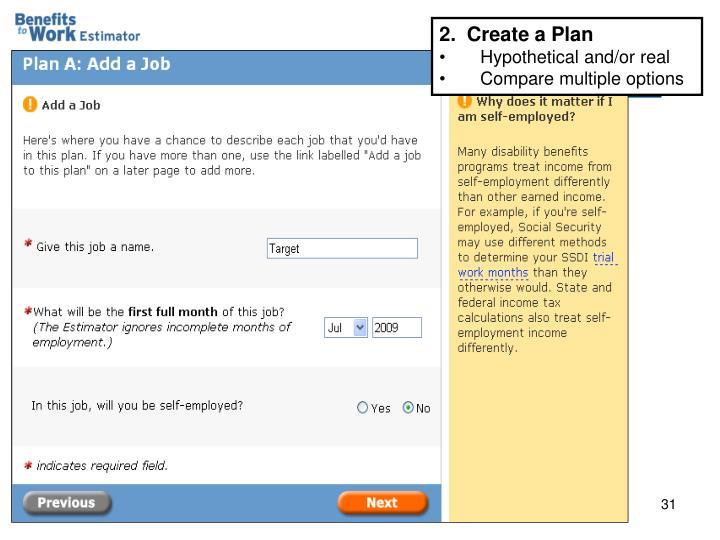 2.  Create a Plan