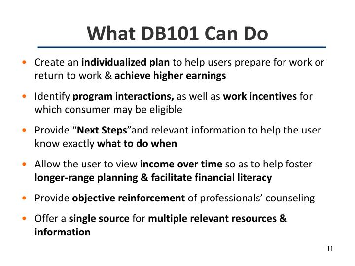 What DB101 Can Do