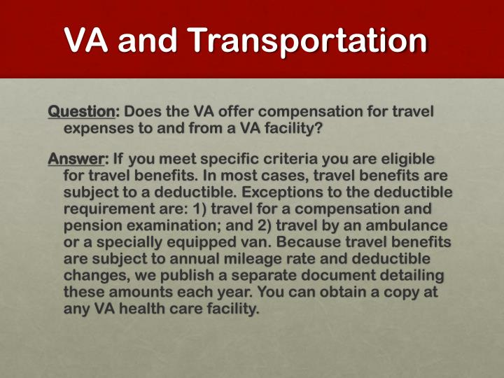 VA and Transportation