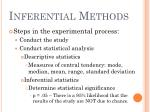 inferential methods13