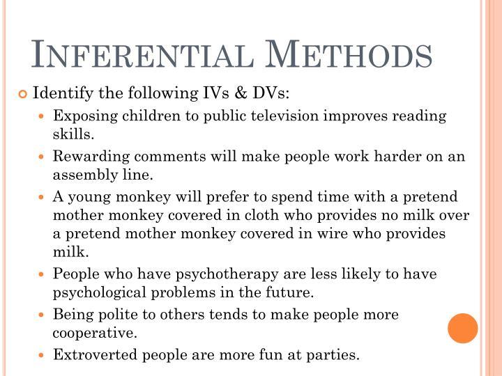 Inferential Methods