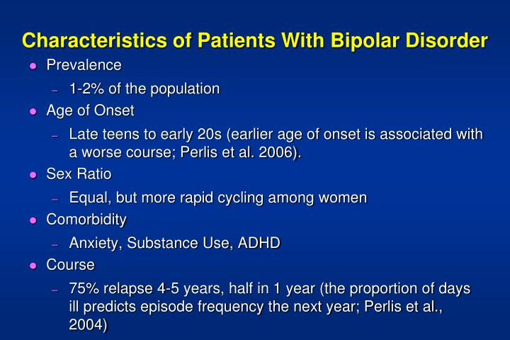 the characteristics types and causes of bipolar disorder