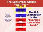 the supremacy clause article vi section 2