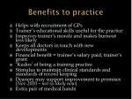 benefits to practice1