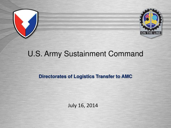 U s army sustainment command