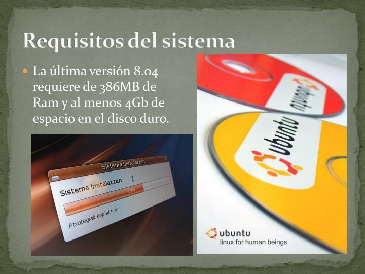 Requisitos del sistema