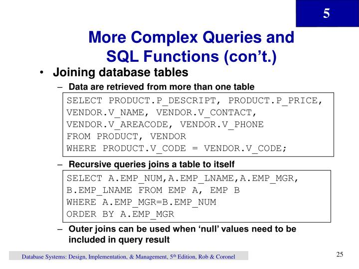 More Complex Queries and