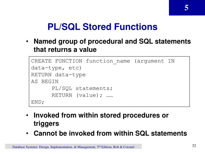 PL/SQL Stored Functions