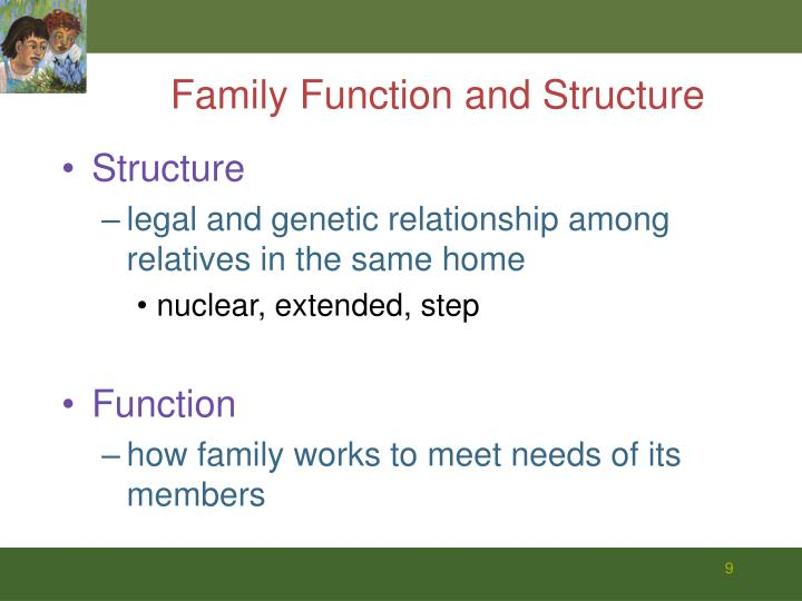 Family Function and Structure