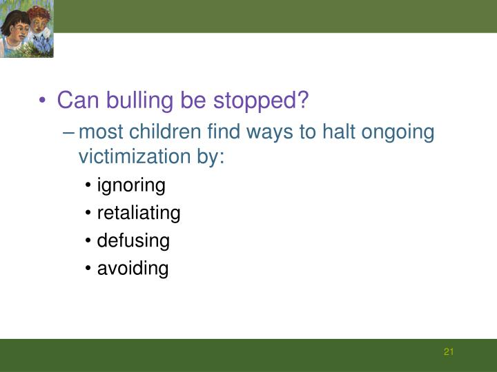 Can bulling be stopped?