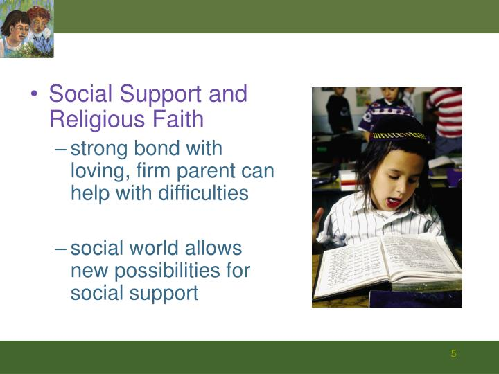 Social Support and Religious Faith