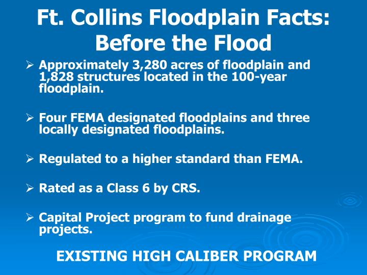 Ft. Collins Floodplain Facts: