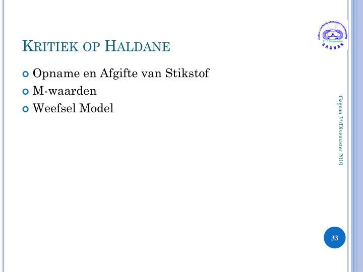 Kritiek op Haldane